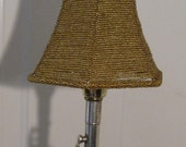 Signed Vintage Silver Clarinet Touch Table Lamp 110v  W/ Gold Beaded Shade For That Music Lover  No. 102B