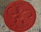 RESERVED...FUN Vintage Red Barrel of Monkeys Game from Milton Bradley, new / unused