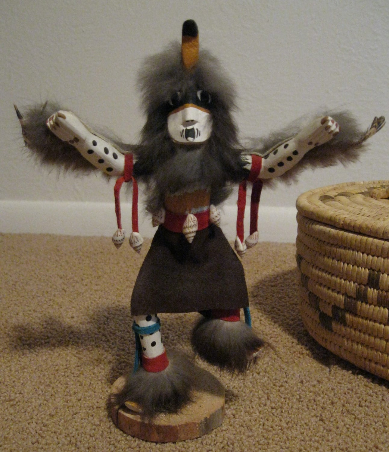 Authentic Native American Kachina Doll Eagle Dancer Signed By