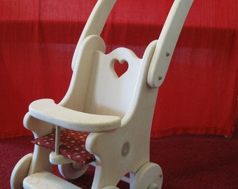 Cashie's Dolly Stroller/Buggy - Waldorf - wooden dolly buggy/stroller