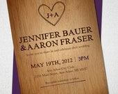 Wood Carving Wedding Invitation