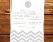 Chevron Zig Zag Wedding Invitation