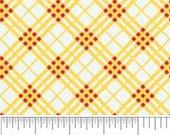 Hoos in the Forest Cotton Fabric by Doohikey Designs for Riley Blake Yellow Plaid-1 yard
