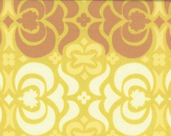 Amy Butler Cotton Fabric  Midwest Modern Garden Maze in Mustard 1 yard