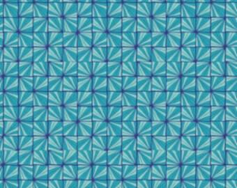 Karavan by Valori Wells for Freespirit Quartz in Peacock Cotton Quilt Quality Fabric 1 yard