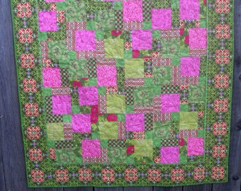Quilt, Awesome Pink and Android Green