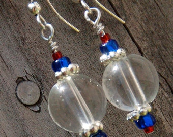Patriotic Bauble Dangle Earrings