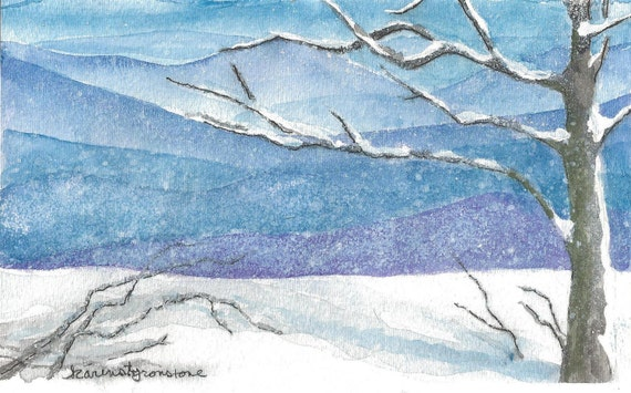 A Blue Ridge Snow