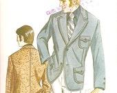 Mens' SPORT COAT Kwik Sew 328 UNCUT sizes 36/38/40