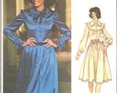 Nina Ricci PLEATED dress with PETTICOAT (separate) Vogue 1191 size 10 UNCUT