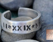 Roman Numeral Ring - Made to Order - Personalized - Hand Stamped - Custom Adjustable Ring - Valentine's Day Gift