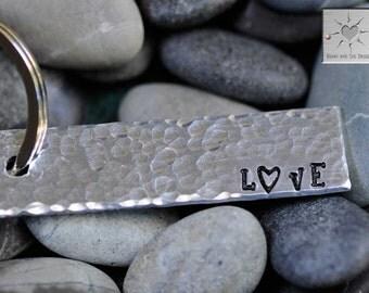 Custom Keychain - Personalized - Wedding, Anniversary, Love - LOVE