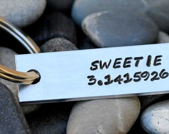 Custom Keychain - Sweetie 3.1415926 - Pi - Sweetie Pie Key Chain