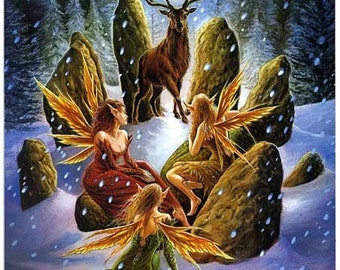 Sacred Days of Yule Tarot reading JPG of reading is included