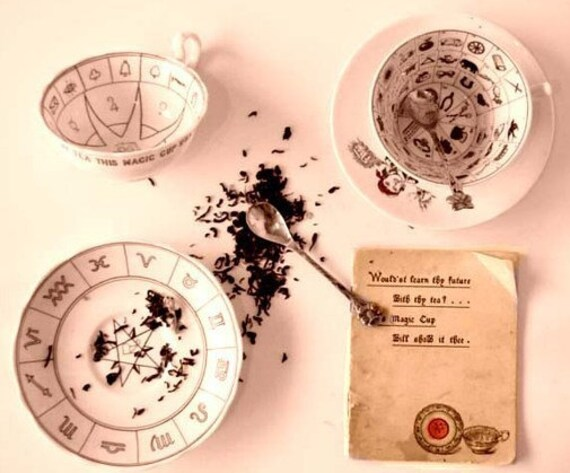 "Tea Leaf Reading with 3 Tea leaf oracle cards enhancers plus 3 tarot cards"" JPG of reading is included"