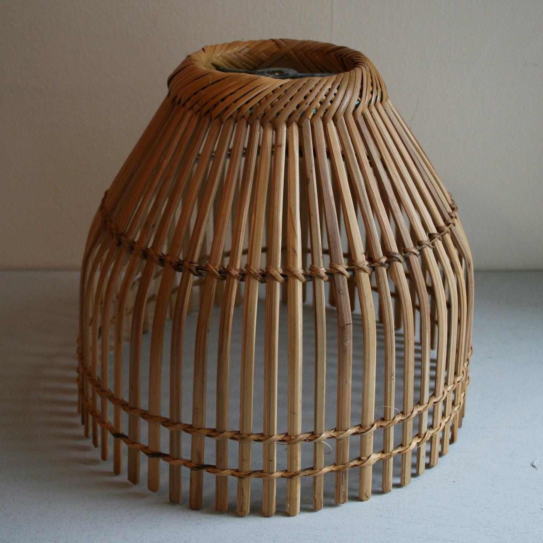 Vintage Basket Lamp Shade Circa 1970s