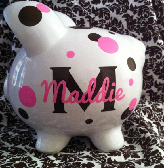 Custom Personalized Large Piggy Bank