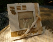 Handmade Photo Frame - ECO-Upcycled-Green Products OOAK