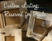 Under Construction Handmade Custom Photo Frame for PAULA  - ECO-Upcycled-Green Products OOAK