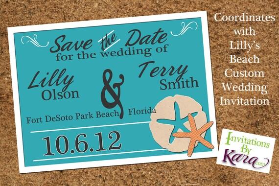 Lilly's Beach Custom Save the Date