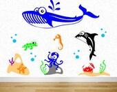 Underwater Sea Life - Vinyl Wall Decal