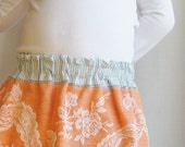 50% OFF Creamsicle Upcycled Skirt Little Girls size 4 to 6 OOAK