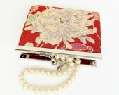 30% OFF Vintage Red Asian Floral Coin Purse