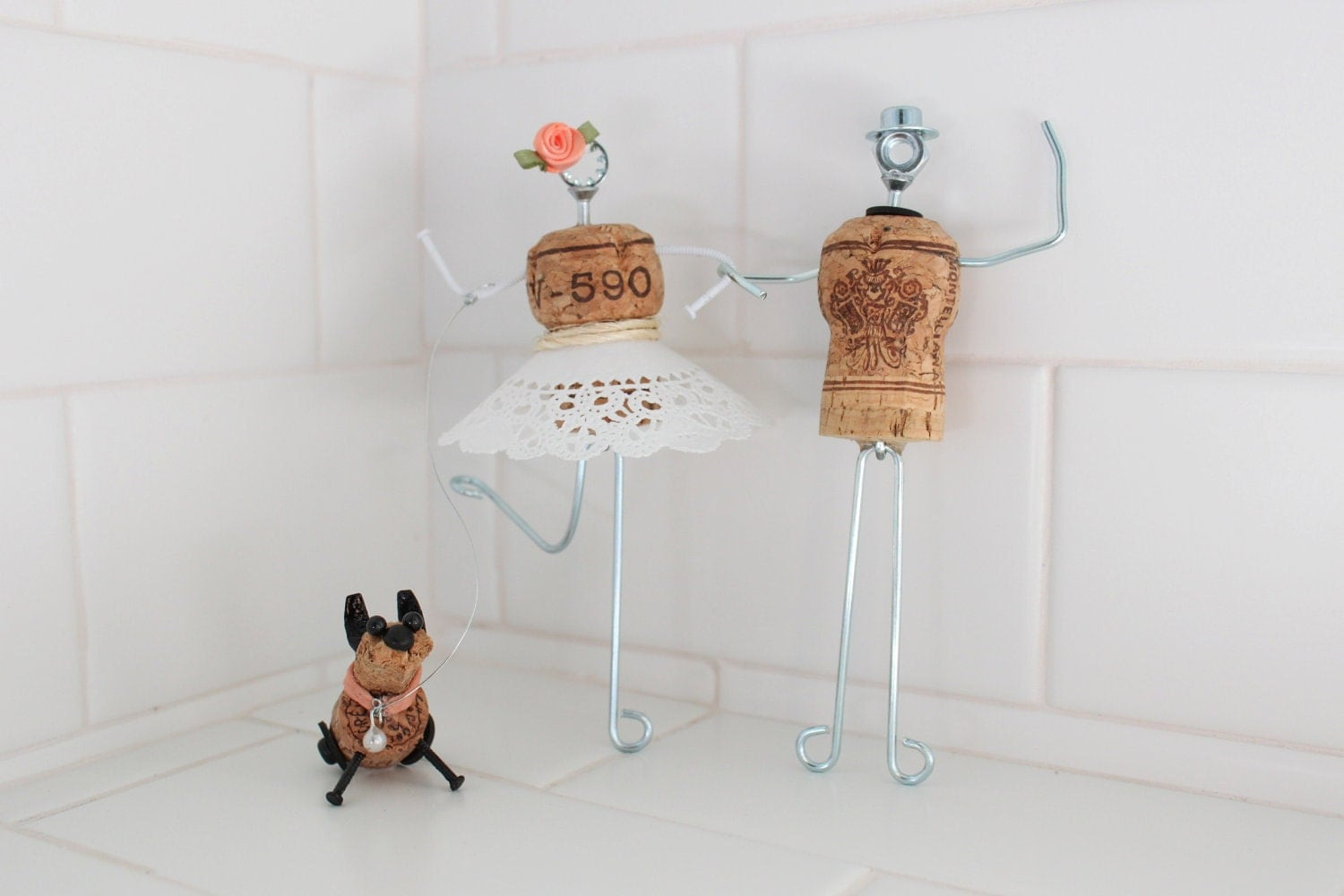 whimsical wedding cake toppers