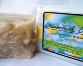 Goats Milk Soap - CHAMOMILE & CUCUMBER - Handmade from Scratch with Organic Oils and Shea Butter