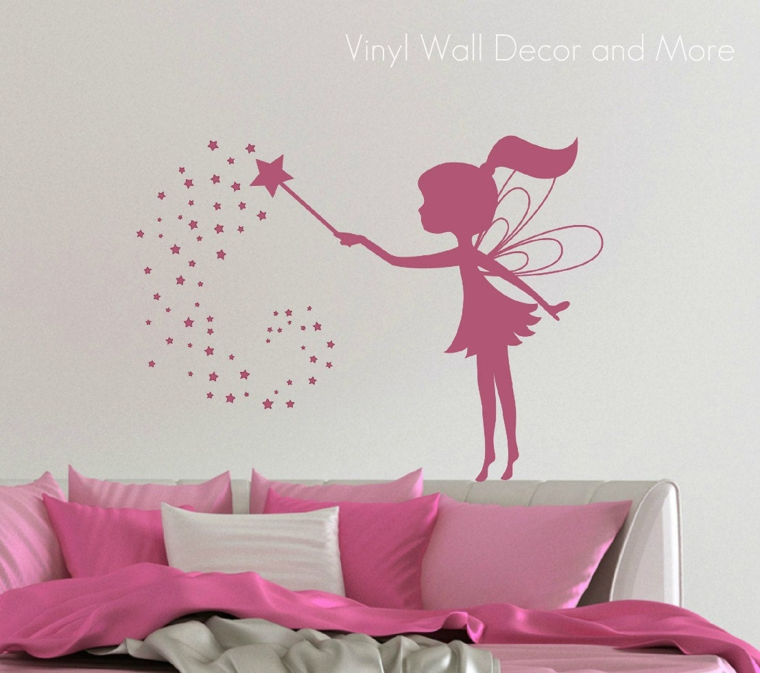 vinyl fairy wall decal free us shipping by