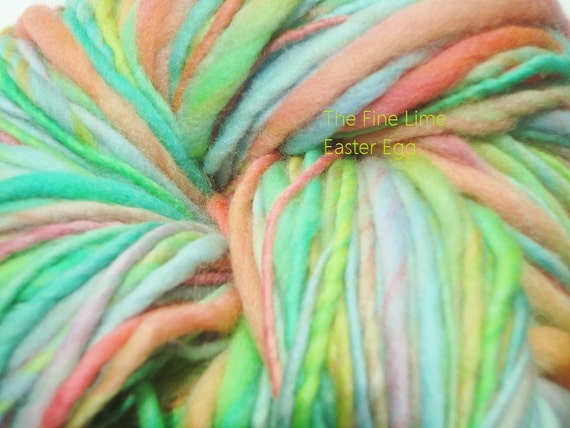 Merino Handspun Pastel Worsted Weight Yarn - Easter Eggs - Colorful Hand Dyed Wool