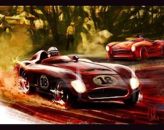Automotive Art Grand Prix 8x12 Metallic Print