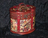 Steampunk tattoo wood box purse Sailor Jerry FREE SHIPPING in the USA