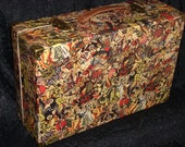 Steampunk tattoo Sailor Jerry suitcase luggage thick paper box
