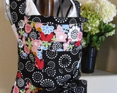 Mei-Tai Baby Carrier Flowers in Pink, Red, Green, Blue, Orange with Black and White Circles