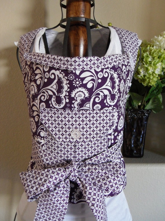 Mei-Tai Carrier Purple and White Paisley