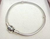 "SUMMER SALE - Authentic Pandora Bracelet Sterling Silver  - (18cm/7.1"") - New and Unworn"