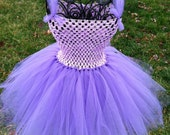 Lavender crochet top tutu dress NB-6 months