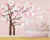 kids Wall Decals wall stickers wall decor wall art Trailing Cherry Blossom Tree