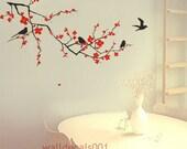 Vinyl Wall Decals wall Stickers,tree,decal,sticker,livingroom,bedroom,girl,art- cherry blossom
