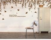 wall decal  Wall sticker room decor  nature tree decal birds decal  wall decor wall art  decal Art - Dream's garden