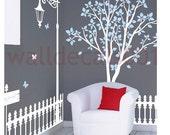 "Children  Wall Decals  Wall Sticker Tree Decals Murals decor Nursery Decals wall art - Happy park 72"""