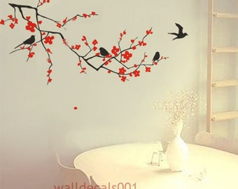 Vinyl Wall Decals wall Stickers,tree,decal,sticker,livingroom,bedroom,girl,art- cherry blossom