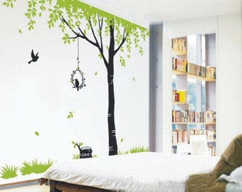 Tree Wall Decals Kids wall art Nature wall stickers wall decor room decor- Giant tree