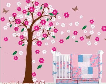 Vinyl Wall Decals cherry blossom decals kids wall art kids decals flower decals-trailing Cherry blossom