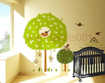 Baby nursery wall decals  wall sticker,tree decals Graphic,decor, Art-sweet home