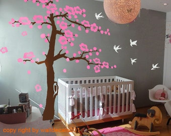 """Wall Decals - cherry blossom tree decals -100"""""""