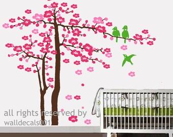 Kids Wall Decal Wall Sticker tree decal cherry blossom decals nursery Decals-  Cherry Blossom Tree