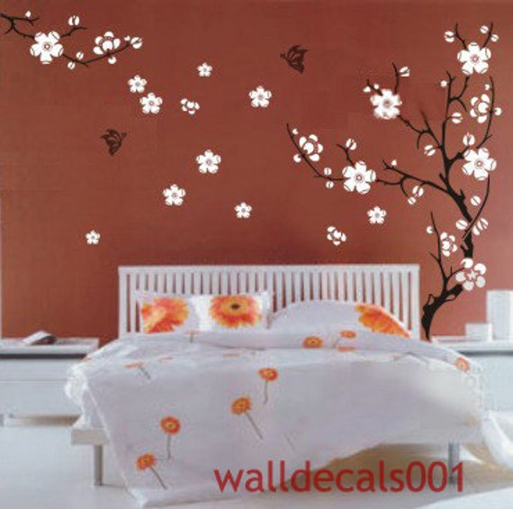 Cherry blossom-Vinyl Wall Decals Wall Stickers wall decor room decor girl kids decal flower decal  room decor