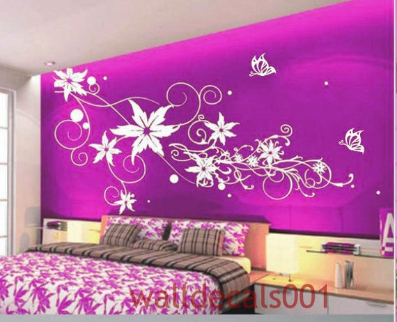 Flower Wall Decals Wall Stickerswall Decorwall Art Flower